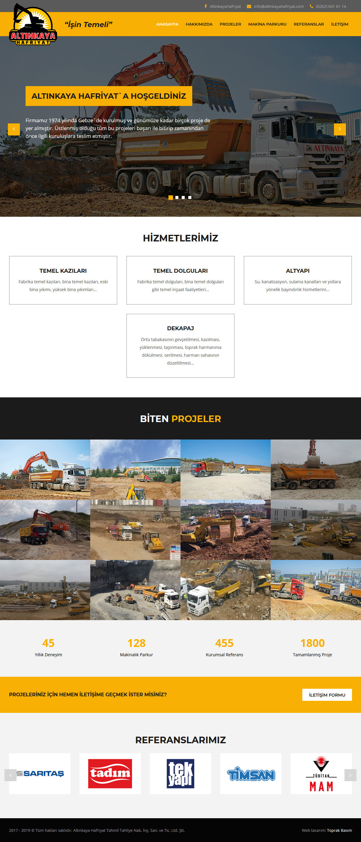 Web Design, Altınkaya Excavation Ltd.