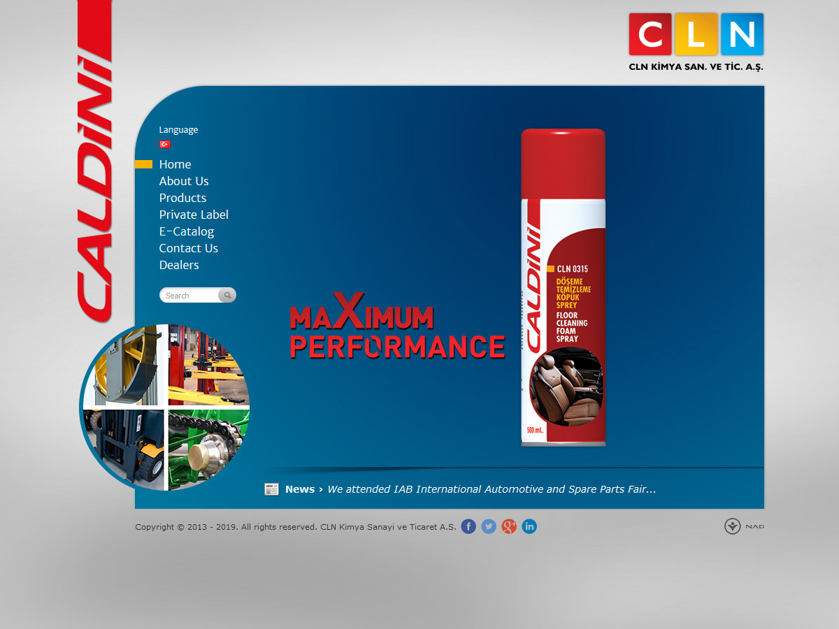 Web Design, CLN Chemistry Industry and Trade Inc.