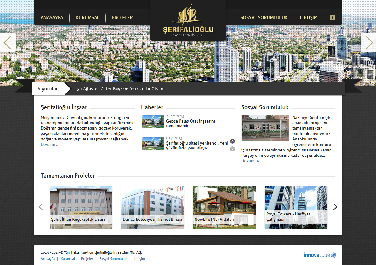 Web Design, Şerifalioğlu Construction Inc.