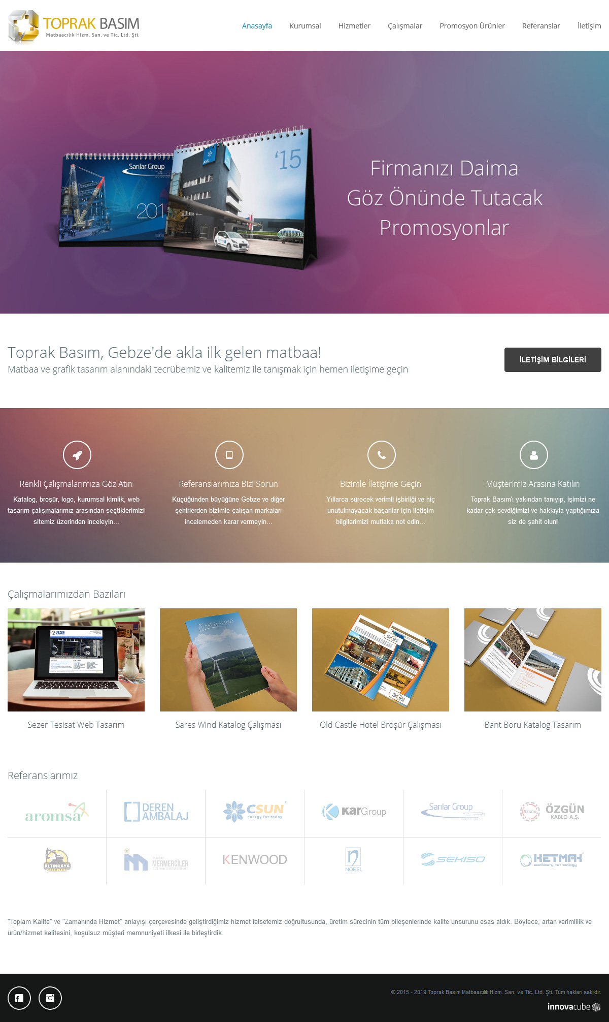 Web Design, Toprak Printing Ltd.